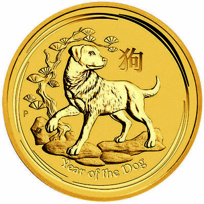 2018 Perth Mint Gold Lunar Dog 1/20 oz Bullion Coin