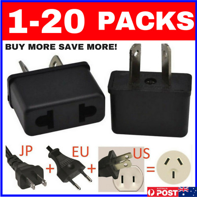 1-20 BUNDLES USA EU ASIA to AU AUS AUST AUSTRALIAN POWER PLUGs TRAVEL ADAPTER