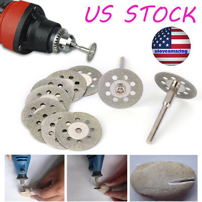 Stone 10Pcs 22Mm Rotary Wheel Grinder Mini Drill Cut Off Cutter Disc Diamond Usa