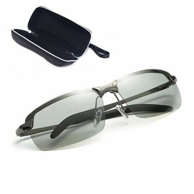HD Men's Polarized Photochromic Transition Lens Sunglasses Natural Material Lens