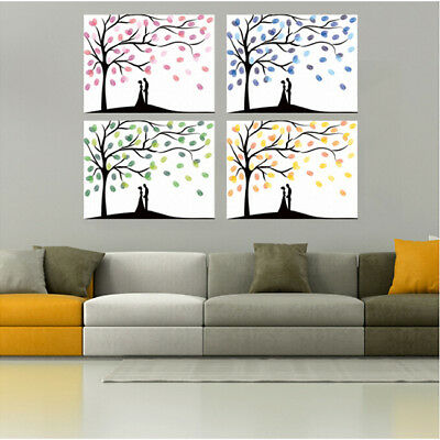 Creative Fingerprint Tree Signature Painting Guest Sign-in Wedding Decor Z