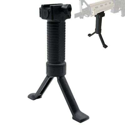 LOT Tactical Picatinny Retractable Foregrip Bipod Reinforced Legs & Acc Rail