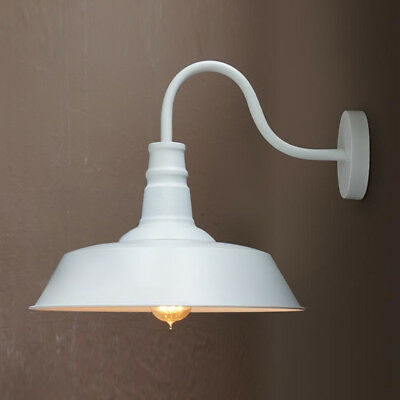 Vintage Industrial Retro Age Style Barn Wall Lamp Sconce Outdoors Light White