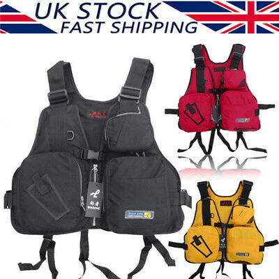 Adult Life Jacket Jackets Vest Multi Pocket Lifejacket Buoyancy Aid Safe Sailing
