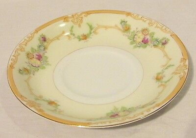Vintage Empress China Saucer Hand Painted Japan Floral Gold Trim