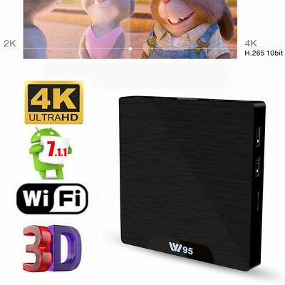 W95 4k Smart Tv Boîte 1 Go +8go/2go+16go Android 7.1 Quad Core Wi-Fi