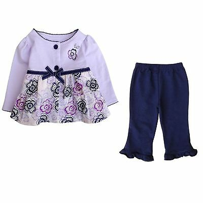 Baby Girl Toddler Cute Floral Top Pants Outfit Winter Gift Age 2 Years 24 Months
