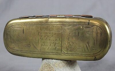 18th Century Dutch Brass Copper Tobacco Box c1790