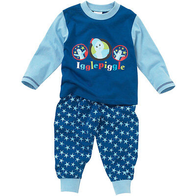 Baby Toddler Boys In The Night Garden Iggle Piggle Cotton Long Sleeve Pyjamas