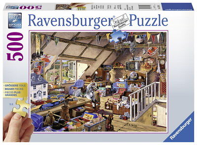 500 Teile Ravensburger Puzzle Gold Edition Großmutters Dachboden 13709