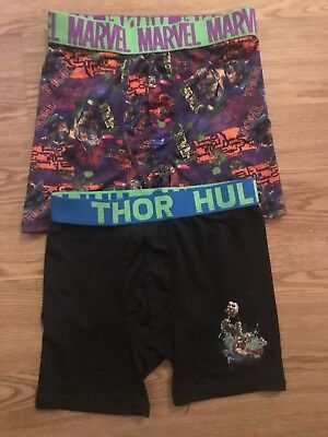 Boys Size 6 Thor/Hulk And Marvel (Two ) Boxers  Used But Not Abused