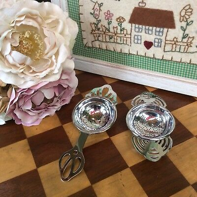 *2 ViNtAgE ArT~DeCo TeA StRaiNeRs*