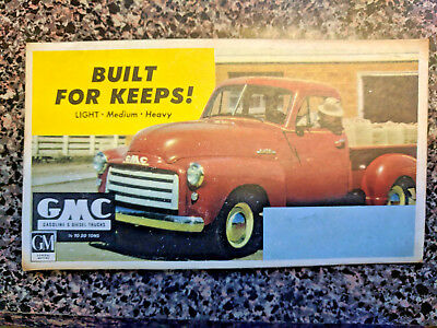 "Vintage GMC ""Built For Keeps!"" Ink Blotter"
