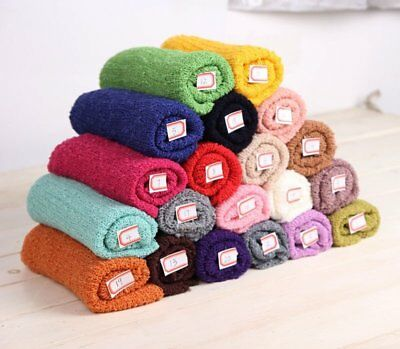 Newborn Baby Photography Props Blanket Rayon Stretch Knit Wraps 40*150cm LOT DF