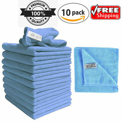 Micro-fiber Cleaning Cloth Reusable Lint Free Microfibre Dusters 10 Pack Cloths
