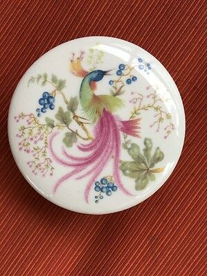 GORGEOUS BRITISH HAND MADE  ROUND  POTTERY TRINKET BOX Decorative Ceramics