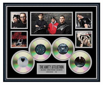 The Amity Affliction 2018 Misery Signed Limited Edition Framed Memorabilia
