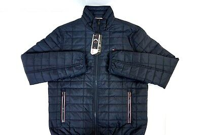 NWT TOMMY HILFIGER Men's Navy Quilted Cold Stop Primaloft Puffer Jacket Medium