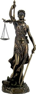 Themis: Greek Goddess Statue / Blind Lady Justice Sculpture Lawyer Gift 30cm