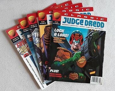 5 Issues of Classic Judge Dredd No.s 2, 3, 6, 7, 8 Free Gift Intact