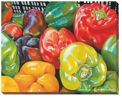 Peppers Wrapped Canvas by Rollie Brandt