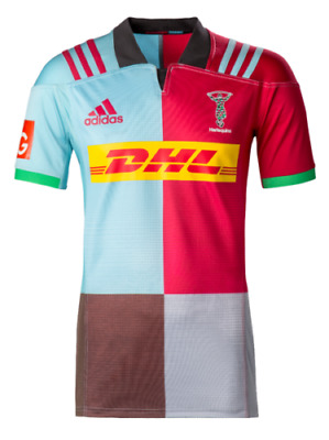 Genuine Adidas Harlequins Home Rugby Jersey Mens Shirt 2017/2018