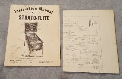 Williams STRATO-FLITE Williams Strato Flite Instruction Manual