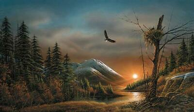 "Terry Redlin /""Stormy Weather/""Duck  Print Image  27/""W x 8.5/""H"