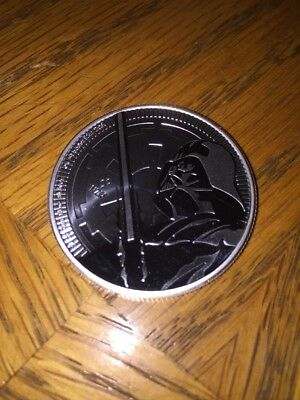 2018 $2 Niue Silver Darth Vader Star Wars .999 1 oz Brilliant Uncirculated