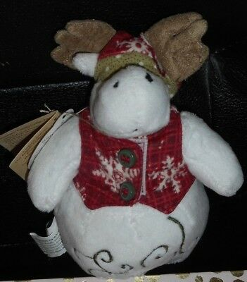 """6"""" Boyds Plush Slippy Snowbert Moose From The Fashion Family Collection Nwts6"""""""