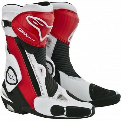 Alpinestars SMX Plus Motorcycle Race Boots Black Red White