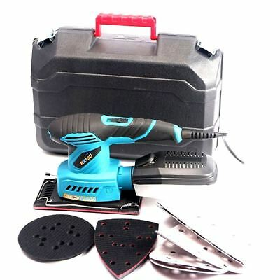 Katsu 3 In 1 Multi Purpose Electric Orbital Palm Sander In Plastic Case Free P&P