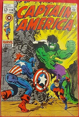 CAPTAIN AMERICA 110 Marvel Silver Age 1969 1st app of Madame Hydra / The Viper