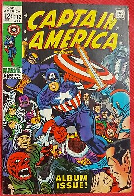 CAPTAIN AMERICA 112 Marvel Silver Age 1969 Album Issue Classic Kirby art vf