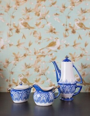 TEAPOT BOMBAY TEA Set with Nesting Cup, Creamer and Sugar Bowl ...