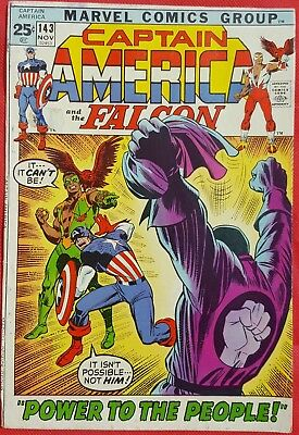 CAPTAIN AMERICA 143 Marvel 1971 Red Skull Rafe Michel