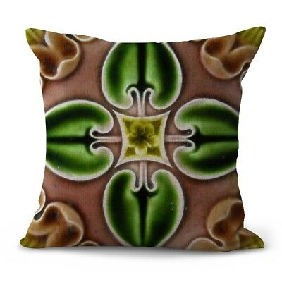 US SELLER- dining chair cushion covers Art Nouveau flower cushion cover