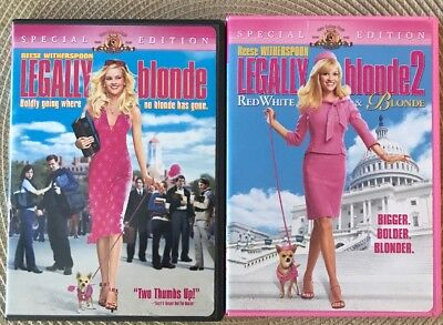 Legally Blonde And Legally Blonde 2 DVDs