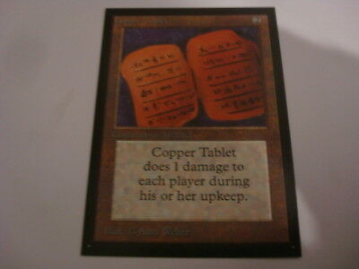 MTG Beta Copper Tablet Collector´s Edition Beta CE Magic