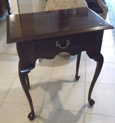 Ethan Allen cherry one drawer table/nightstand