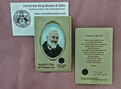 Padre Pio Wallet-Sized Laminated Relic Card