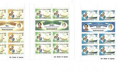 large lot DIANA Royal stamp sheets MINT Princess montserrat WEDDING * 3