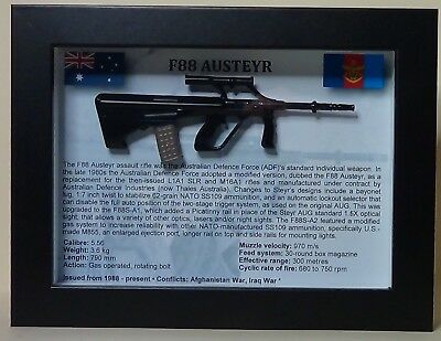 F88 Austeyr Rifle - Australian Armed Forces - Framed & Sealed