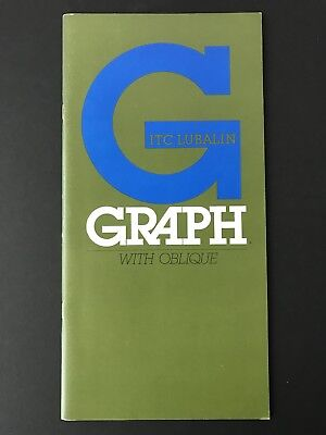 ITC Lubalin Graph, Type specification book, 1981, 44 pages, design, Ed Benguiat