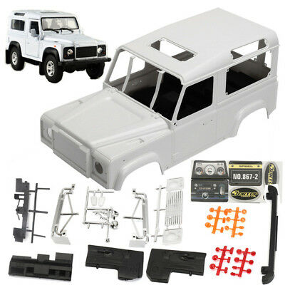 RC 1/10th Scale Crawler Speed Cars D90 Hard Plastic Body Shell Interiors System