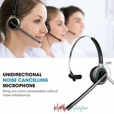 Mpow V4.1 Bluetooth Headset Wireless Over Head Earpiece with Noise Reduction Mic
