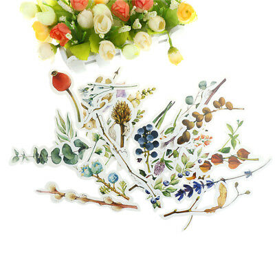 30Pcs  Flower Branch Paper Bookmark Promotional Gift Stationery Film Bookmark  X