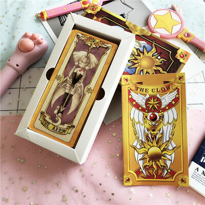 Japan Anime 1Set/56Pcs Card Captor Sakura Clow Cards Collections Gift New