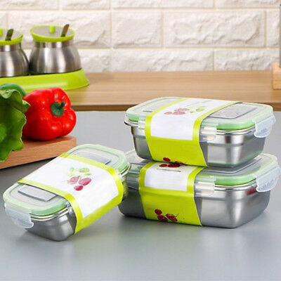 1 Layer Stainless Steel Thermal Insulated Lunch Box Bento Food Container Storage