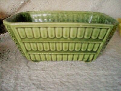 "BRUSH POTTERY USA Green Planter C-111-7""...Perfect!...FREE SHIPPING"